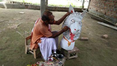 mask making in majuli